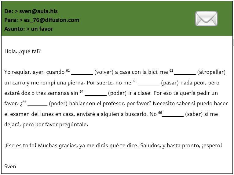 examen de clasificacion espanol