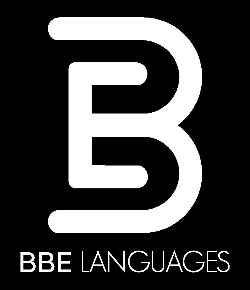BBE Languages - Logo blanco